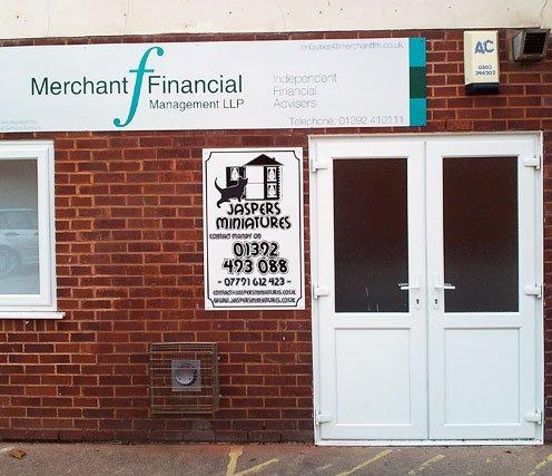 Merchant Financial Signage