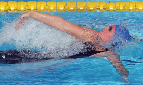 Gemma Spofforth swims the 100m