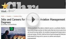 Jobs And Careers For People With Aviation Management Degrees